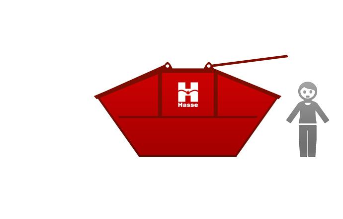 Absetzcontainer 10 m³ - geschlossen 10