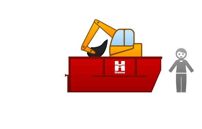 Absetzcontainer 7 m³ - für Baumaschinentransport 7